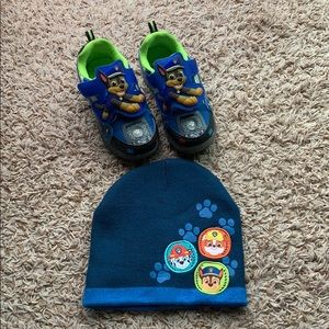 PAW PATROL Chase light up shoes and hat